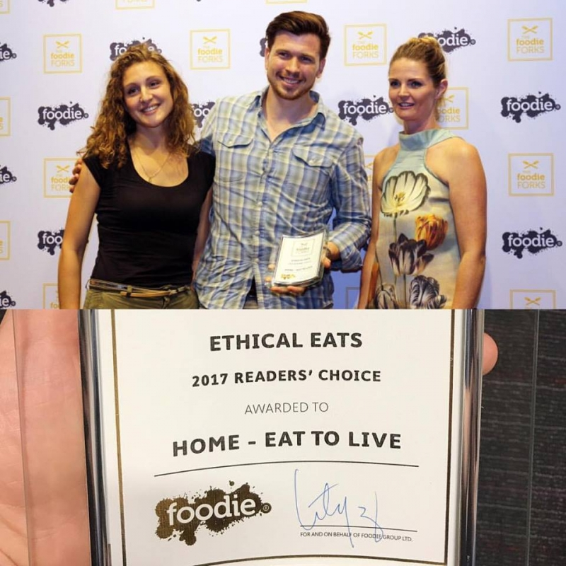 RÉCOMPENSE – Christian G.Mongendre, fondateur du concept HOME – Eat to Live, décroche le prix « The reader's Choice Foodie Fork »
